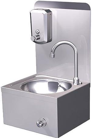 Handwaschbecken Seifenspender Edelstahl Wandmontage Kniebedienung