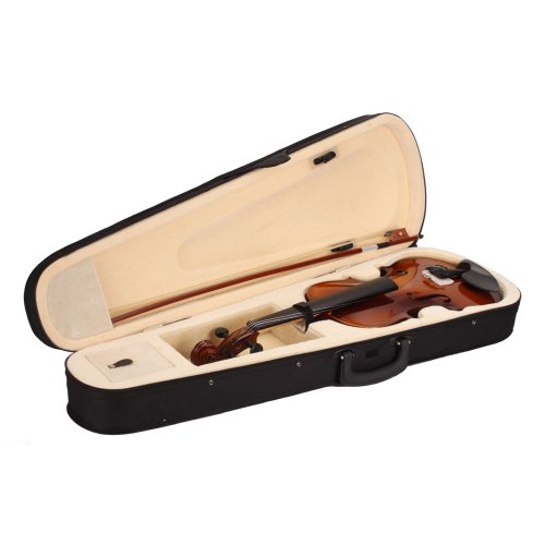 Lovinland 4/4 Acoustic Violin Natural Color Beginner Violin Full Size with Case Bow Rosin by Lovinland (Image #1)