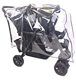 Sasha's Premium Series Rain and Wind Cover for Chicco Cortina Together Double Stroller