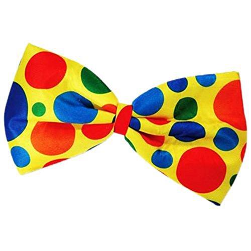 TOOGOO(R) clown bow tie fancy dress dot multi color -