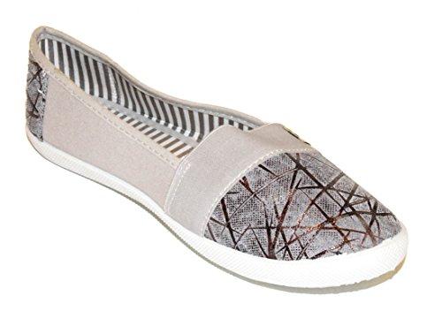 BTS - Zapatillas de running de Lona para mujer Multicolor - gris