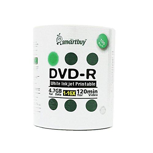 41nOQHuSYhL - Smartbuy 4.7gb/120min 16x DVD-R White Inkjet Hub Printable Blank Media Recordable Disc (600-Disc)
