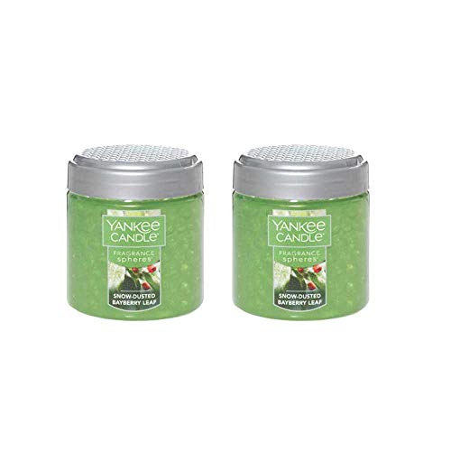 Yankee Candle Snow-Dusted Bayberry Leaf Fragrance Spheres Odor Neutralizing Scent Beads (Pack of 2)