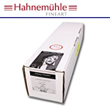 """Hahnemuhle Photo Rag Baryta 315, 100% Cotton High Gloss, Natural White Inkjet Paper, 315gsm, 44""""x39' Roll, 3"""" Core by Hahnemuhle"""