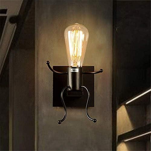 Wandleuchte Light Country Schmiedeeisen Wandlampe Retro Schlafzimmer Nachttisch Korridor Wandlampe einfache Roboter Wandlampe Persönlichkeit kreative Stunde