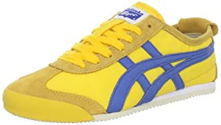 innovative design dae36 9ef9a Onitsuka Tiger Mexico 66 Vin Fashion Sneaker,Yellow/Blue,8.5 ...
