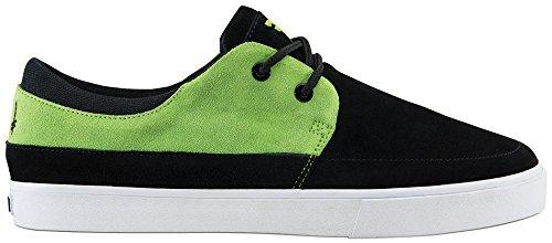 Fallen Men's FA-Roach Skateboarding Shoe, Black/Green Deathwish, 6 M US