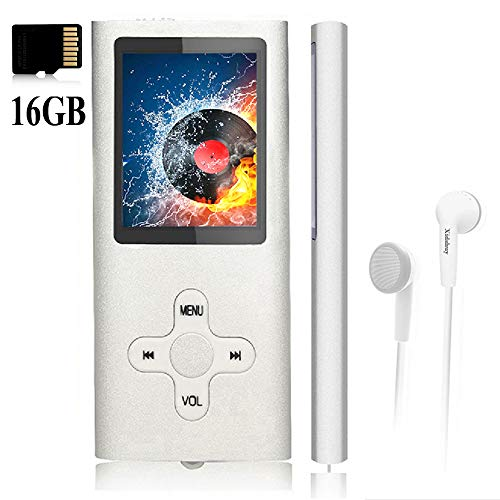 Mp3 Player,Music Player with a 16 GB Memory Card Portable Digital Music Player/Video/Voice Record/FM Radio/E-Book Reader/Photo Viewer/1.8 LCD (Voice Of Music Record Player For Sale)