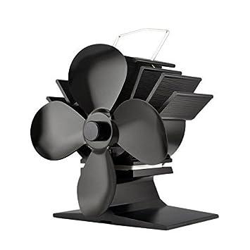 Nueva 2017 pequeñas 4 hoja estufa Top Ventilador y tubo de chimenea thermometer- Juego Regalo perfecto: Amazon.es: Bricolaje y herramientas