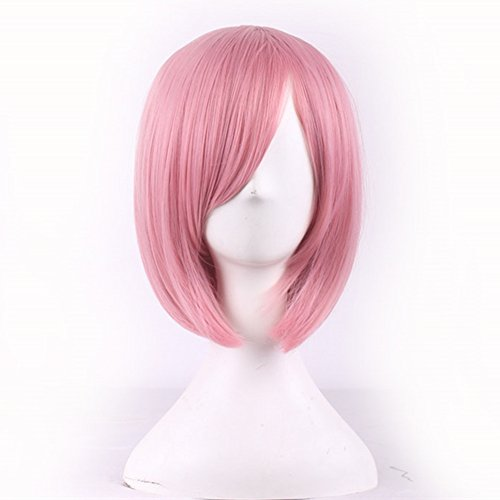 AneShe 12 Short Straight Hair Wig Anime Cosplay Costume Party Wigs