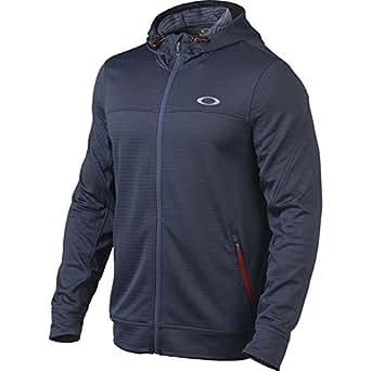 Oakley Mens Press Fleece Hoody Zip Sweatshirt 2X-Large Blue Indigo