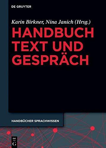 Handbuch Text und Gespräch (Handbücher Sprachwissen (HSW))