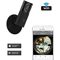 Clever dog 960P Wifi Wireless security wifi cameras Remote View Camera Panoramic Camera with Two Way Audio, Motion Sensor,Night Vision,Support TF Card (Up to128G) for iPhone Ipad Android(with adaptor)