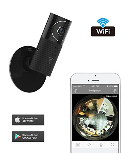 Clever dog 960P Wifi Wireless security wifi cameras Remote View Camera Panoramic Camera with Two Way Audio, Motion Sensor,Night Vision,Support TF Card (Up to128G) for iPhone Ipad Android(with adaptor) (Security Camera Motion Sensor)