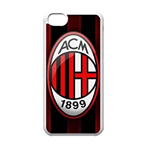 iphone5c Case, AC Milan Cell phone case White for iphone5c - SDFG8755642