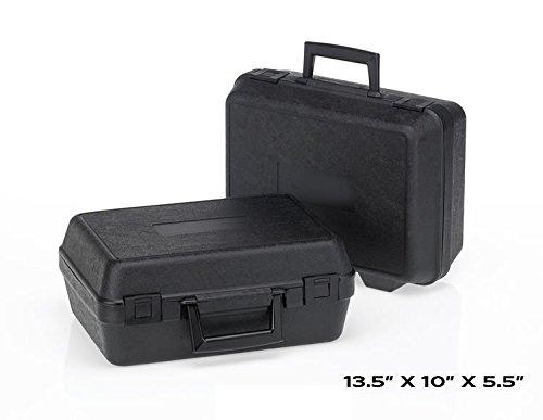 HUNSAKER USA: Hard Case Tool Storage Case Universal Storage Box (Inside Dimensions: 12.5'' x 9'' x 5.125'' - Black)
