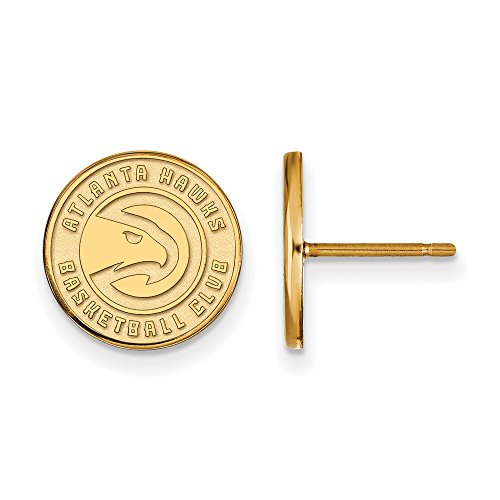 NBA Atlanta Hawks Post Earrings in 14K Yellow Gold by LogoArt