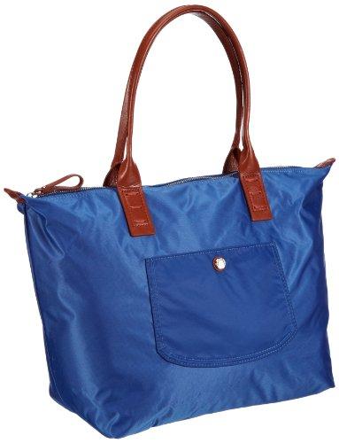 Marc O'Polo Accessories Candy Shopper - Bolsa de la compra de material sintético mujer Azul - Blau (Blau 65740)