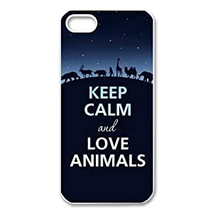 Keep Calm and add some glitter Design 100% PC Case For Apple iPhone5 iPhone4 iPhone4S