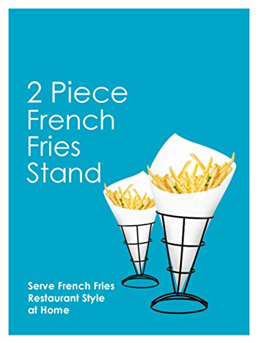 2-Piece French Fry Stand Cone Basket Holder for Fries Fish and Chips and Appetizers by Twain & Moss (Image #2)