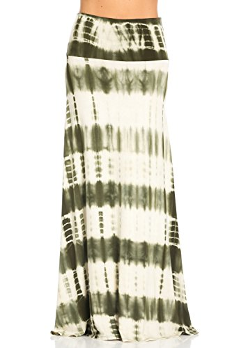 plus size tie dye maxi skirt - 6