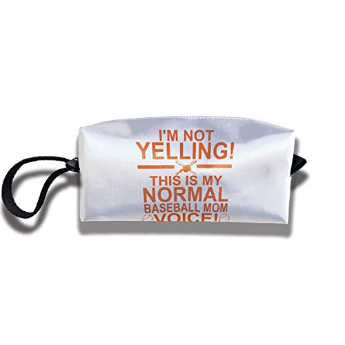Cosmetic Bags With Zipper Makeup Bag Normal Baseball Mom Voice Middle Wallet Hangbag Wristlet Holder
