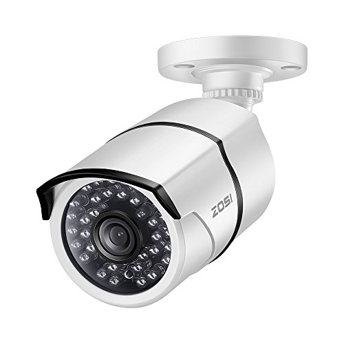 ZOSI 5.0MP TVI Security Camera-Super HD Bullet Waterproof CCTV bnc Camera for Home Office seucirty System