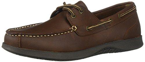 Nunn Bush Leather Oxfords - Nunn Bush Men's Bayside Boat Shoe Two Eye Oxford, Dark Brown, 10