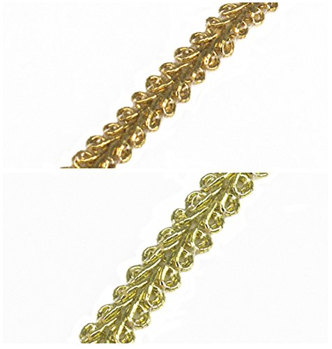 Woven Gold Braided Lace Ribbon Trim Fabrics Trimming Sewing Supplies for Bag Apparel Costumes Accessories 20yards (6mm, Gold) by Resources House