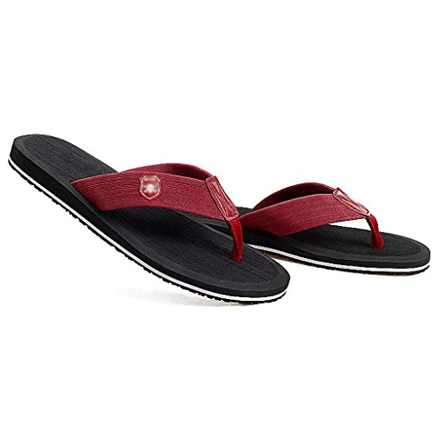 Sandalias de Hombre Cuarto Negro Moda de Baño Casual de Zapatillas de Verano Playa Zapatillas TP46t
