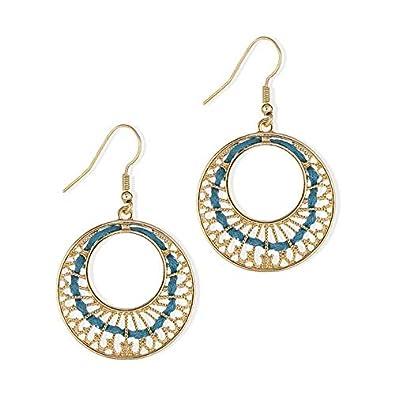 chaussures élégantes meilleur endroit pour spécial chaussure balabooste-bijoux-boucles Earrings dorés-bleu Rings, Gold ...