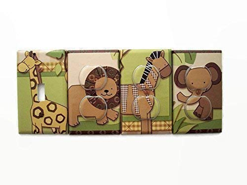 - Baby Cocoa Jungle Animals Switch Plate Cover and Outlet Covers (Set 4)