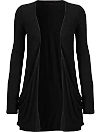 Girls Walk Women's Plus Size Boyfriend Long Sleeve Pocket Cardigan