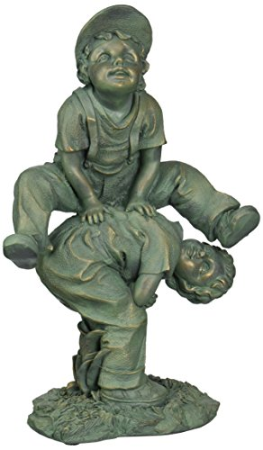 Design Toscano Leap Froggin Playing Boys Garden Statue