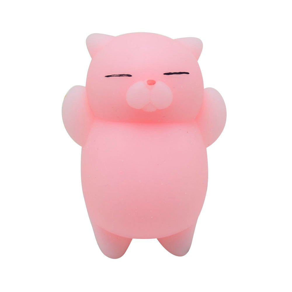FORESTIME Mochi Squishy Cat Toy - Squishy Toy for Stress Relief Kawaii Slow Rising Super Soft with Sweet Scented Cream Cute Toys for Kids Adult (Pink, 3 Years)
