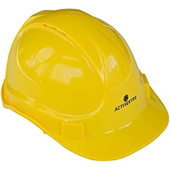 97147ae1eb1 Active Kyds Adjustable Yellow Hard Hat for Kids Construction Costume (Small)