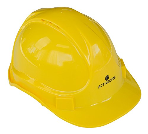 Active Kyds Adjustable Yellow Hard Hat for Kids Construction Costume (Small)