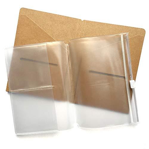 (Kraft File Folder + Zipper Pouch Refill Pack for Pocket Passport Travelers Notebook 5