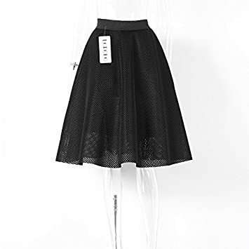 SONGQINGCHENG Las Faldas De Cintura Alta Womens Verano Vestido ...