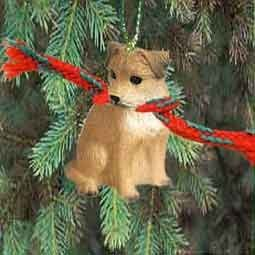 1 X Border Terrier Miniature Dog Ornament - Tiny One Dog Ornament