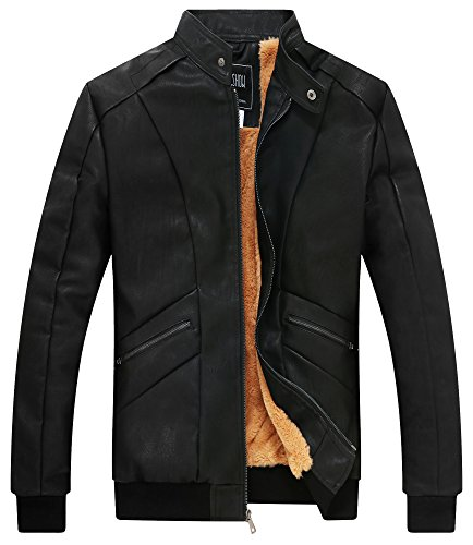 ZSHOW Leather Waterproof Motorcycle Windbreaker