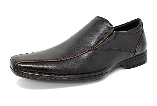 Bruno Marc Men's Giorgio-1 Dark Brown Leather Lined Dress Loafers Shoes - 9.5 M US