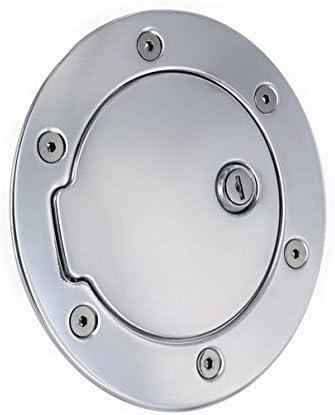 Billet Chrome Fuel Gas Door w//Lock for Dodge Ram 1500 2500 3500