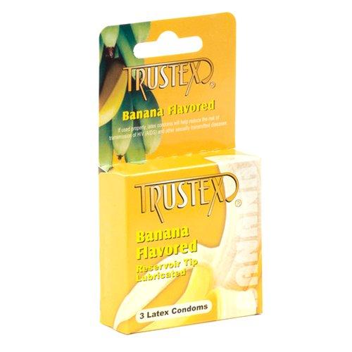 Banana Flavored Condoms (Trustex Flavored Condoms, Banana, 3 Count)