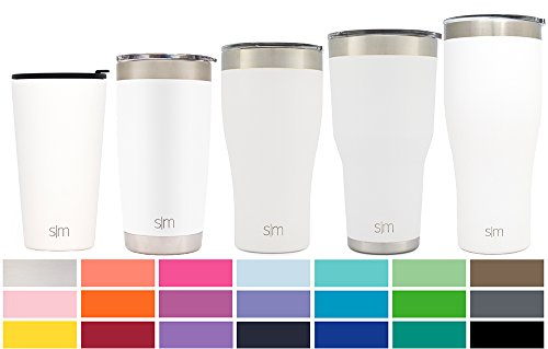 White 16 Ounce Mug (Simple Modern Pint 16oz Tumbler - Vacuum Insulated Double Wall 18/8 Stainless Steel Hydro Trazel Mug - Coffee Cup Flask - Winter White)