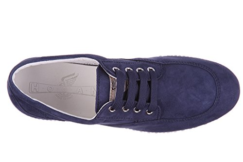 Scarpe Da Donna Hogan Sneakers In Pelle Scamosciata H258 Blu