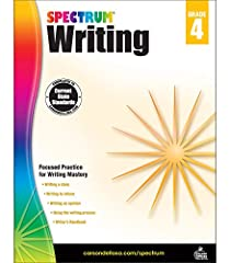 Spectrum Paperback Writing Book for grade 4 comprises of 144 pages and guides students as they write for a variety of purposes like writing to tell a story, writing to provide information and writing to state an opinion. It helps students thr...