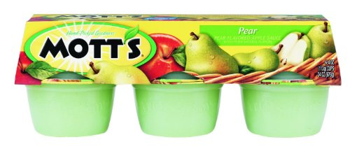 Pear Cup (Mott's, Pear Applesauce, 6 - 4oz Cups, 24oz Package (Pack of)