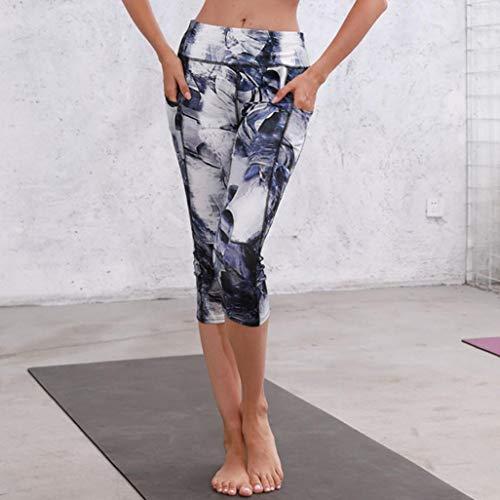 de de Cintura Impreso de Cordón Boho Impreso Ocio Vaqueros Yoga Bolsillo 2 Mujer Pantalón Pantalones Jeans Pantalones Estilo Fitness de Cintura Leggings Alta ASHOP Gris 4fqw7vxR