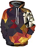 SAINDERMIRA Unisex Fashion 3D Digital Galaxy Pullover Hoodie Hooded Sweatshirt Athletic Casual with Pockets(Diamond II, XXL/XXXL)